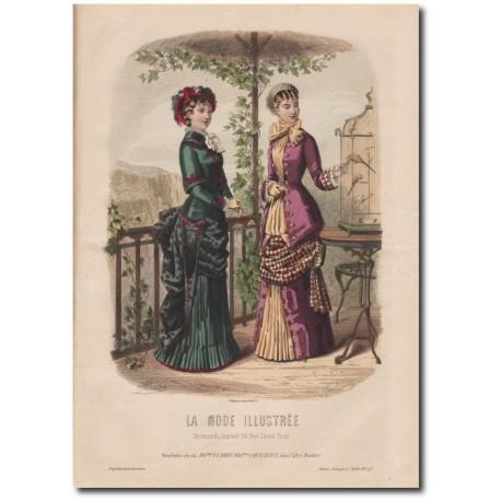 Gravure de La Mode Illustrée 1880 43