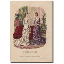 Gravure de La Mode Illustrée 1880 50