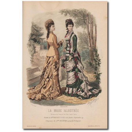 Gravure de La Mode Illustrée 1878 31