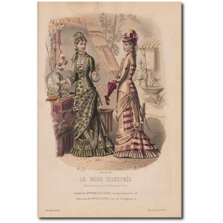 Gravure de La Mode Illustrée 1878 33