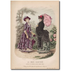 Gravure de La Mode Illustrée 1883 15