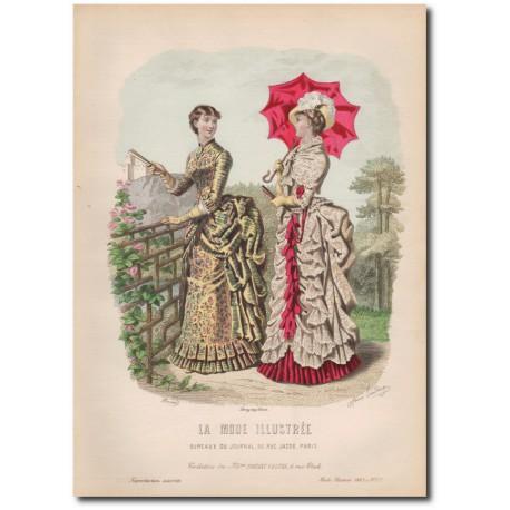 Gravure de La Mode Illustrée 1883 27