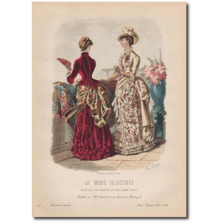 Gravure de La Mode Illustrée 1883 30