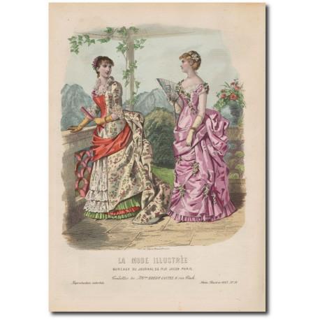 Gravure de La Mode Illustrée 1883 38