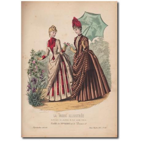 Gravure de La Mode Illustrée 1887 18