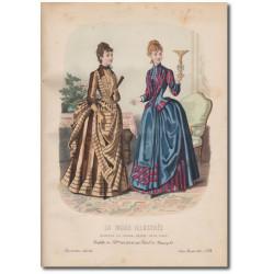 Gravure de La Mode Illustrée 1887 24
