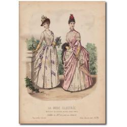 Gravure de La Mode Illustrée 1887 25