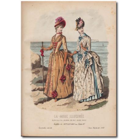 Gravure de La Mode Illustrée 1887 27