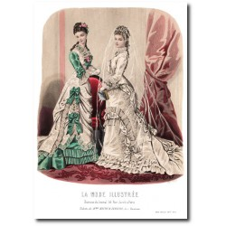Gravure La Mode Illustrée 1877 08