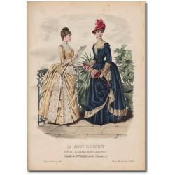 Gravure de La Mode Illustrée 1887 28