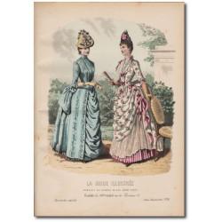 Gravure de La Mode Illustrée 1887 30
