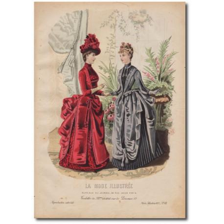 Gravure de La Mode Illustrée 1887 48