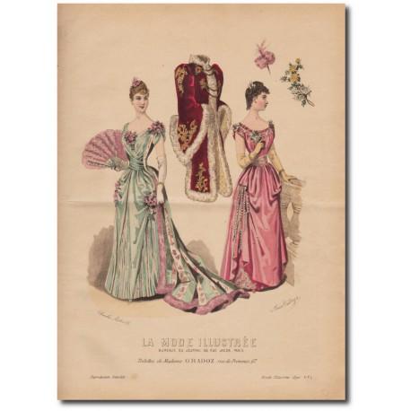 Gravure de La Mode Illustrée 1890 01