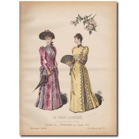 Gravure de La Mode Illustrée 1890 36