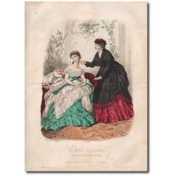 Gravure de La Mode Illustrée 1869 12