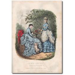 Gravure de La Mode Illustrée 1869 20