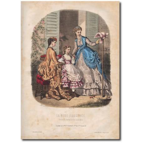 Gravure de La Mode Illustrée 1869 29