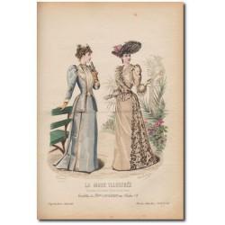 Gravure de La Mode Illustrée 1891 26