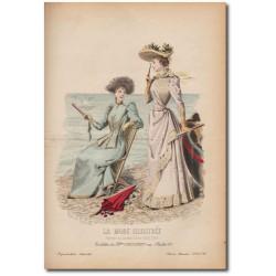 Gravure de La Mode Illustrée 1891 30