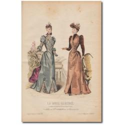 Gravure de La Mode Illustrée 1891 47