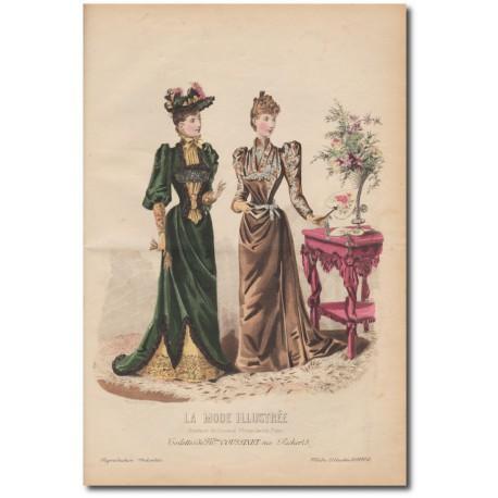 Gravure de La Mode Illustrée 1891 48
