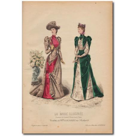 Gravure de La Mode Illustrée 1891 50