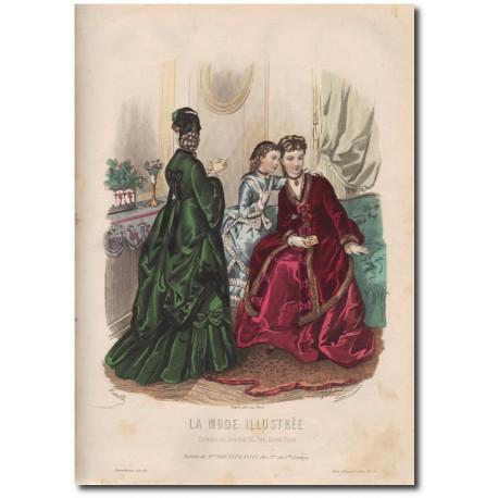 Gravure de La Mode Illustrée 1872 05