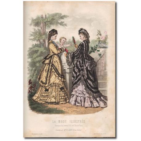Fashion plate La Mode Illustrée 1872 27