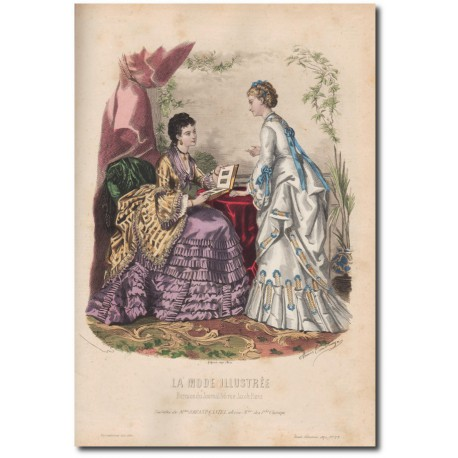 Gravure de La Mode Illustrée 1872 29