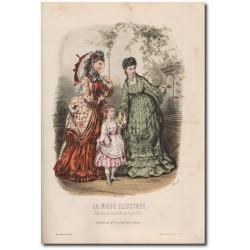 Gravure de La Mode Illustrée 1872 31