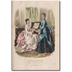 Gravure de La Mode Illustrée 1872 40