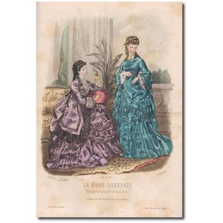 Gravure de La Mode Illustrée 1872 44