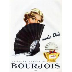 Publicité Parfum Bourgeois Mais Oui 1951