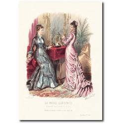 Gravure La Mode Illustrée 1877 40