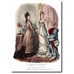 Gravure La Mode Illustrée 1877 50