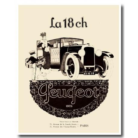 Publicité Peugeot 18 1925