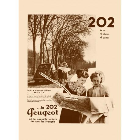 Publicité Peugeot 202 1938