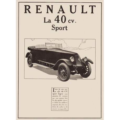 Publicité Renault 40