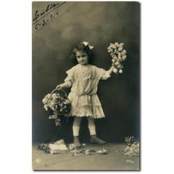 Carte postale-fillette-portugaise-1914