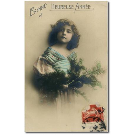 Postcard 1900 123-girl