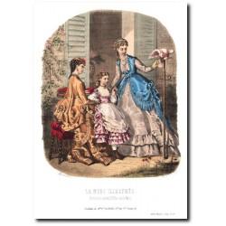 Gravure La Mode Illustrée 1869 29