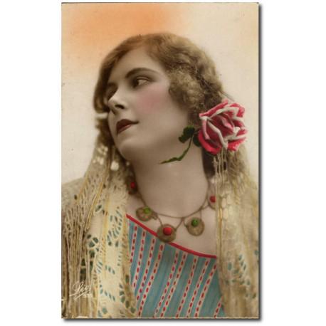 Carte postale 1900 374-rose