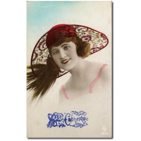 Carte postale 1900 411-chapeau