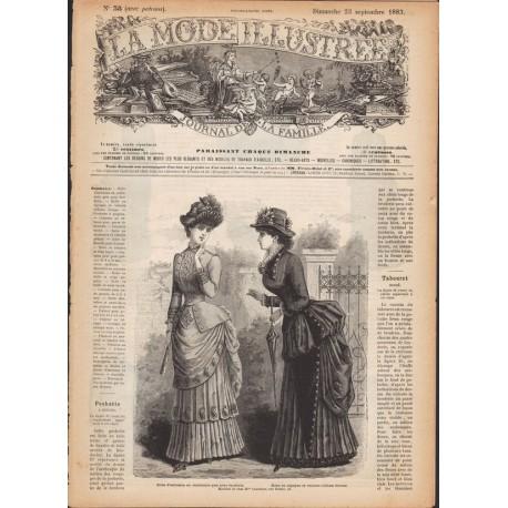 Revue complète de La Mode Illustrée 1883 N°38