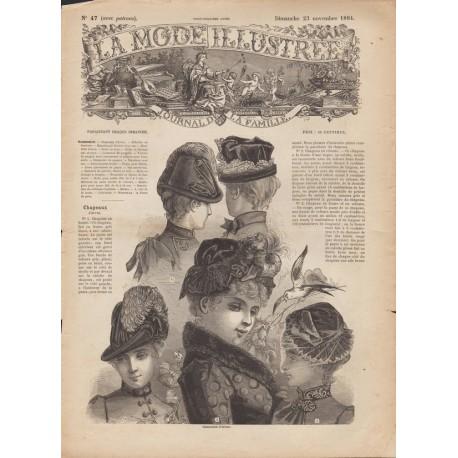 Revue complète de La Mode Illustrée 1884 N°47