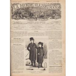 Complete magazine La Mode Illustrée 1887 N°43