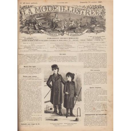 Revue complète de La Mode Illustrée 1887 N°43