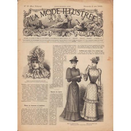 Revue complète de La Mode Illustrée 1892 N°23