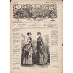 Revue complète de La Mode Illustrée 1884 N°25