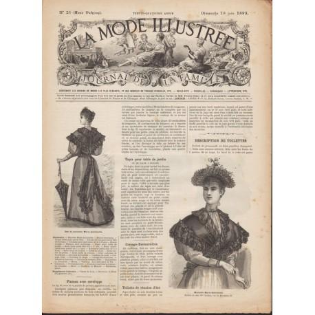 Revue La Mode Illustrée 1893 N°25